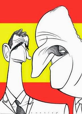 caricatura principe Felipe y rey Juan Carlos