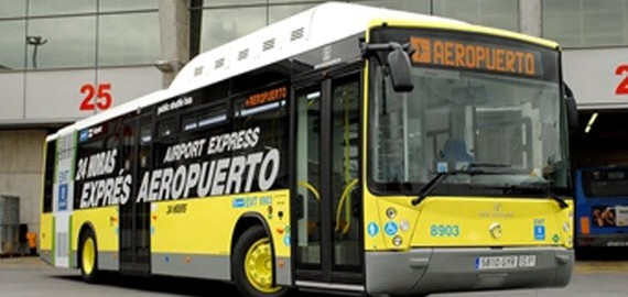 Bus-for-airport-transfer-in-Madrid
