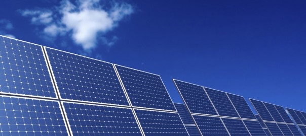 Rows of Solar Panel under clear sky.